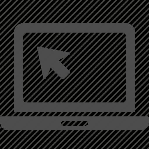 communication, cursor, laptop, pointer icon