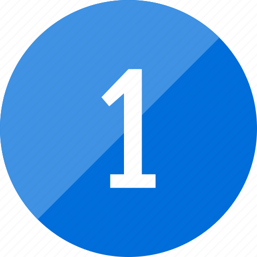 count, number, numero, one icon