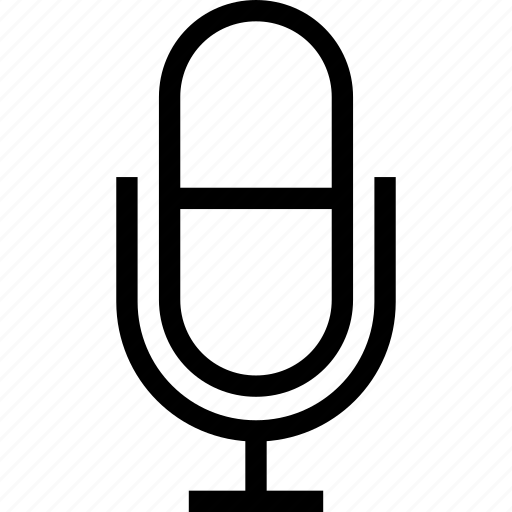 battery operated microphone, classic microphone, computer microphone, microphone, old fashioned microphone, wireless microphone icon