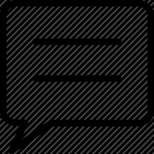 comment, conversation, message, text icon