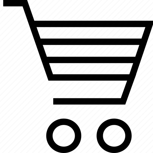 cart, shopping carriage, shopping cart, trolley icon