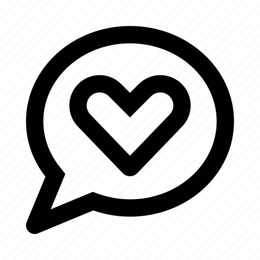 chat, communication, heart, love, message, talk icon