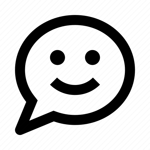 bubble, chat, message, smile icon