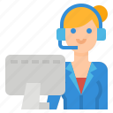 call, center, communications, service, support icon
