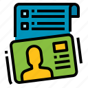 card, communication, contact, list, name icon