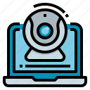 chat, conference, meeting, video, webcam icon