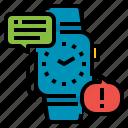 alert, important, notification, smartwatch, watch
