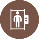 door, elevator, lift, office, town, wall icon