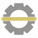 cog, control, department, ruler, technical