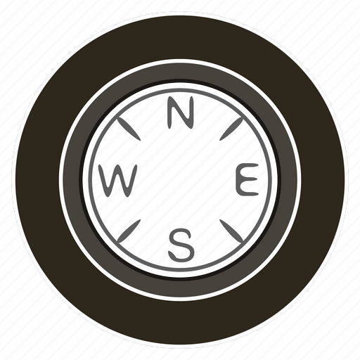 department, east, logistics, north, south, west, wheel icon