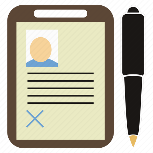 Department, paper tablet, pen, personnel icon - Download on Iconfinder
