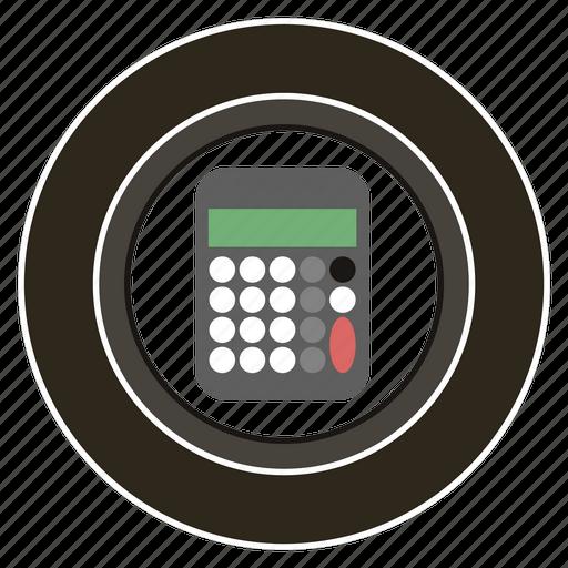 calculator, costs, department, sales, wheel icon