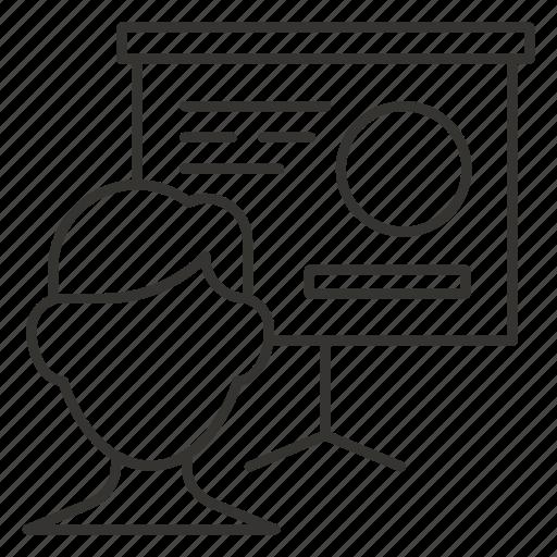 business, chart, graph, presentation, report, statistics icon