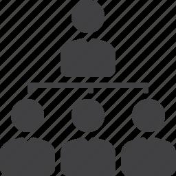 chart, manager, organization, subordination icon