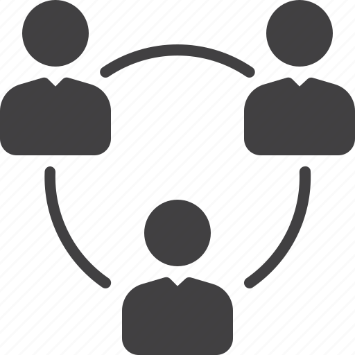 circle, group, network, people, social icon