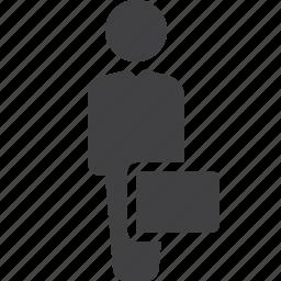 businessman, case, professional, suitcase icon