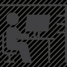 desk, desktop, job, office, workplace icon