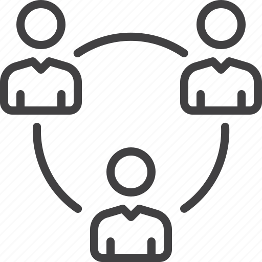 circle, group, network, people, team icon