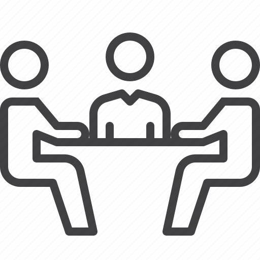 business, conference, meeting, table icon
