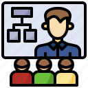business, conference, employees, finance, learning, program, training icon