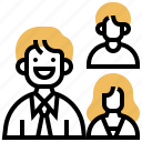 collaborating, colleague, company, organization, teamwork icon