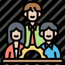board, company, directors, leader, team icon