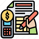 accountant, budget, document, financial, tax icon