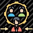 ability, capacity, employee, management, setup icon