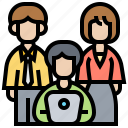 business, company, employees, personnel, teamwork icon
