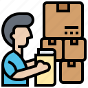 commerce, inventory, logistics, package, product icon