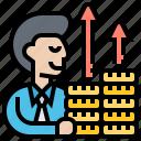 budget, investor, margin, profit, revenue icon