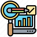 analysis, development, inventory, research, statistic icon