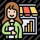 department, entrepreneur, marketing, sales, store icon