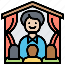 employees, experience, learning, program, training icon