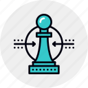 advantage, business, solution, competitive, strategy, chess icon