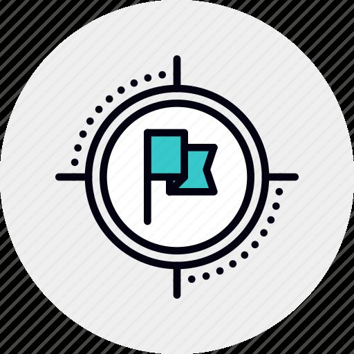 Aim, business, deadline, flag, focus, goal, target icon - Download on Iconfinder