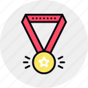 award, honor, medal, rank, reputation, ribbon, winner icon