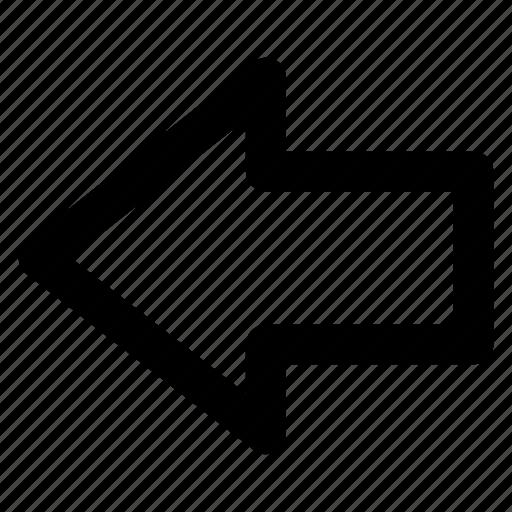 arrow, back, direction, left, navigation icon
