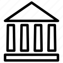 architecture, bank, banking, building, institute icon