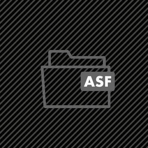 asf, file, filename, film, folder, format, video icon