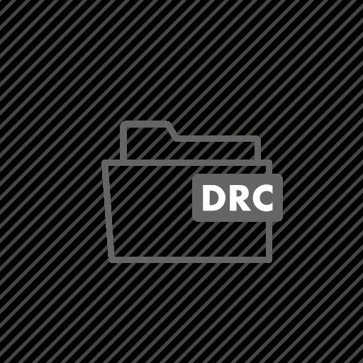 drc, file, filename, folder, format, video icon