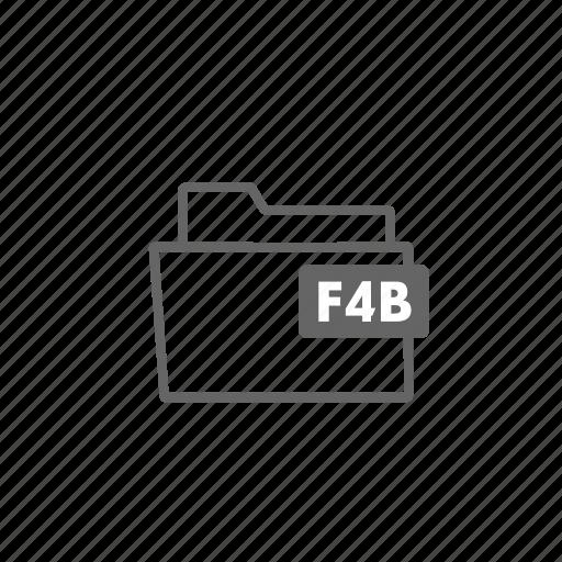 f4b, file, filename, folder, format, image, video icon