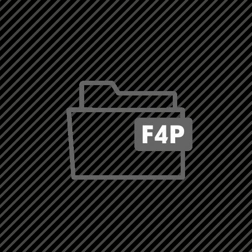 f4p, file, filename, film, format, image, video icon