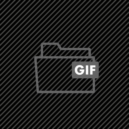 file, filename, film, format, gif, image, video icon
