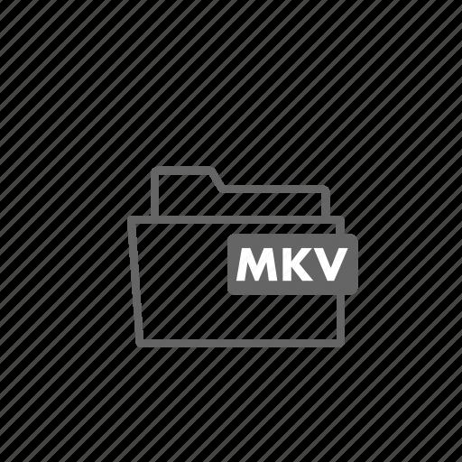 film, folder, format, matroska, mkv, video icon