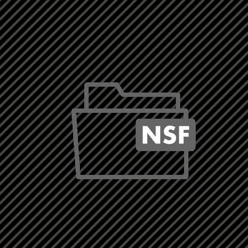file, filename, film, folder, format, nsf, video icon