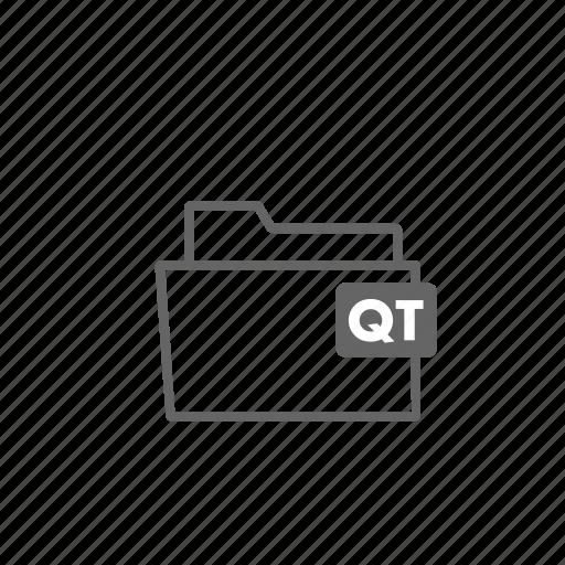 file, filename, film, folder, format, qt, video icon