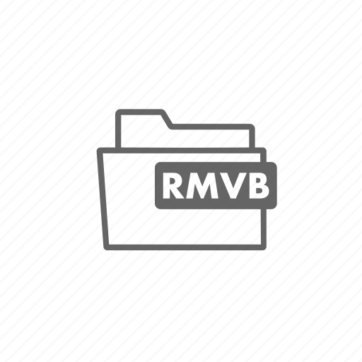 file, filename, film, folder, format, rmvb, video icon