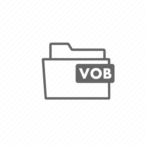 file, filename, film, folder, format, video, vob icon