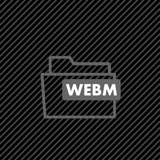 file, filename, film, format, video, webm icon
